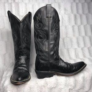 Shoes - Black Western Cowboy Boots